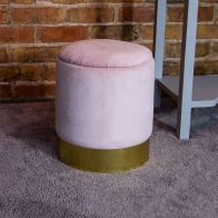 See more information about the Bentley Velvet Storage Foot Stool Pink