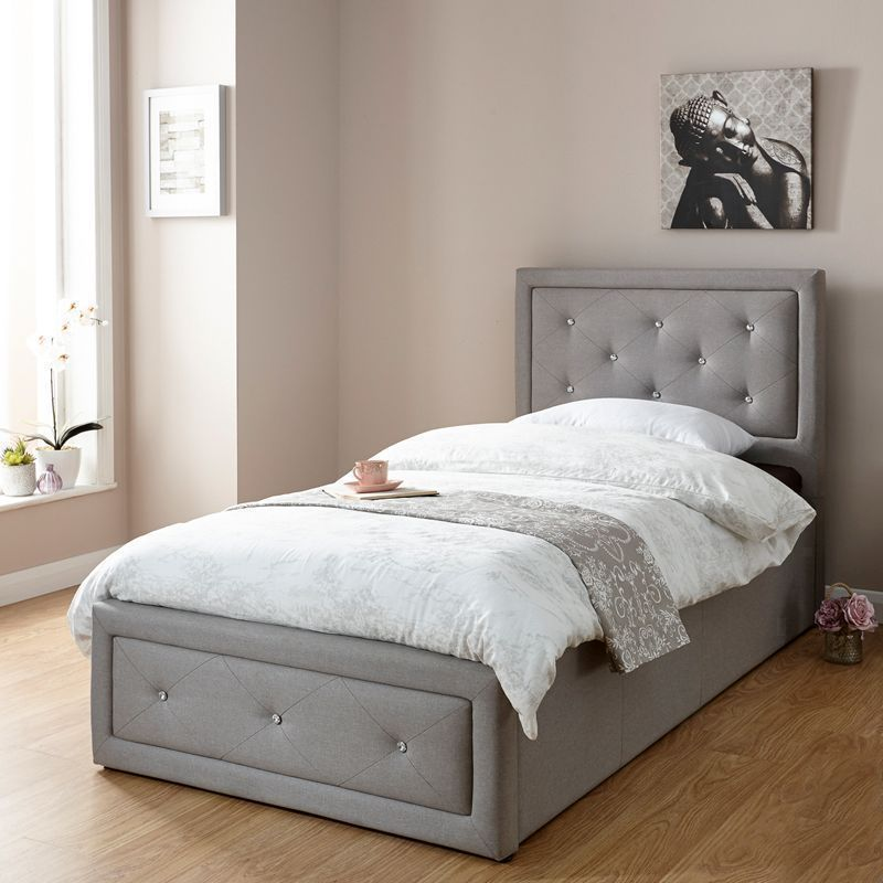 Hollywood Single Ottoman Bed Grey Buy Online At Qd Stores