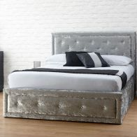 See more information about the Hollywood Crushed Velvet End Lift Ottoman King Size 5ft Bed Frame