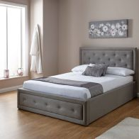 See more information about the Hollywood Grey Fabric End Lift Ottoman King Size 5ft Bed Frame
