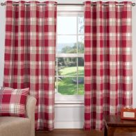 "See more information about the Hamilton Check Curtains (45"" Width x 54"" Drop) - Cranberry"