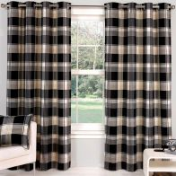 "See more information about the Hamilton Check Curtains (45"" Width x 54"" Drop) - Ebony"