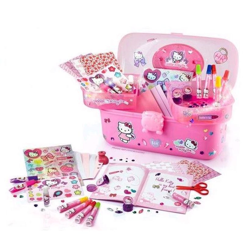 Hello Kitty Deluxe Colouring Set Vanity Case. Hello Kitty Deluxe Colouring Set Vanity Case   Buy Online at QD Stores