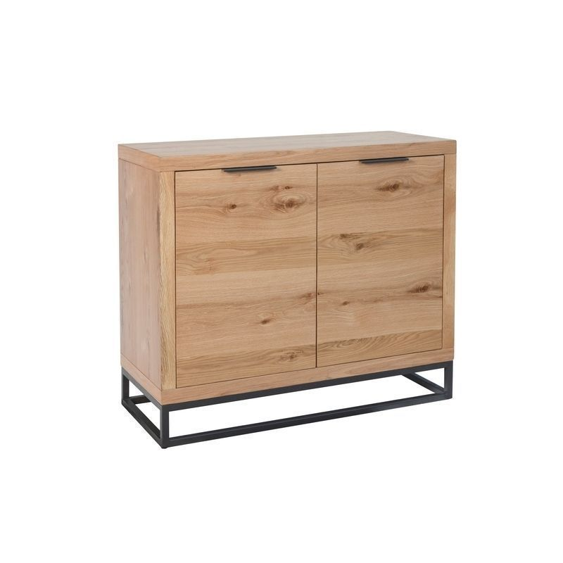 Industrial Chic Oak & Steel 2 Door Sideboard