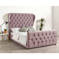 See more information about the Janssen Wing Back Double Bed Pink