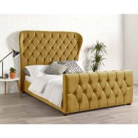 See more information about the Janssen Wing Back Double Bed Gold