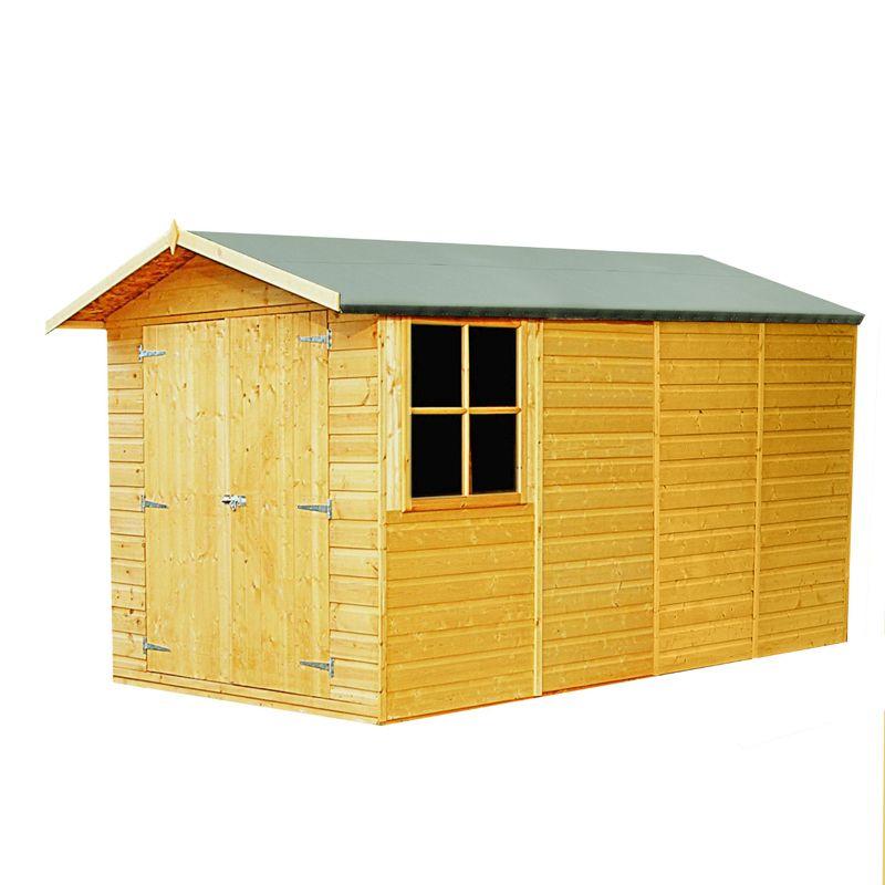 shire jersey shiplap garden shed 7 39 x 13 39 buy online at. Black Bedroom Furniture Sets. Home Design Ideas