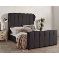 See more information about the Juliette Wing Back Double Bed Black