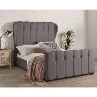 See more information about the Juliette Wing Back Double Bed Grey