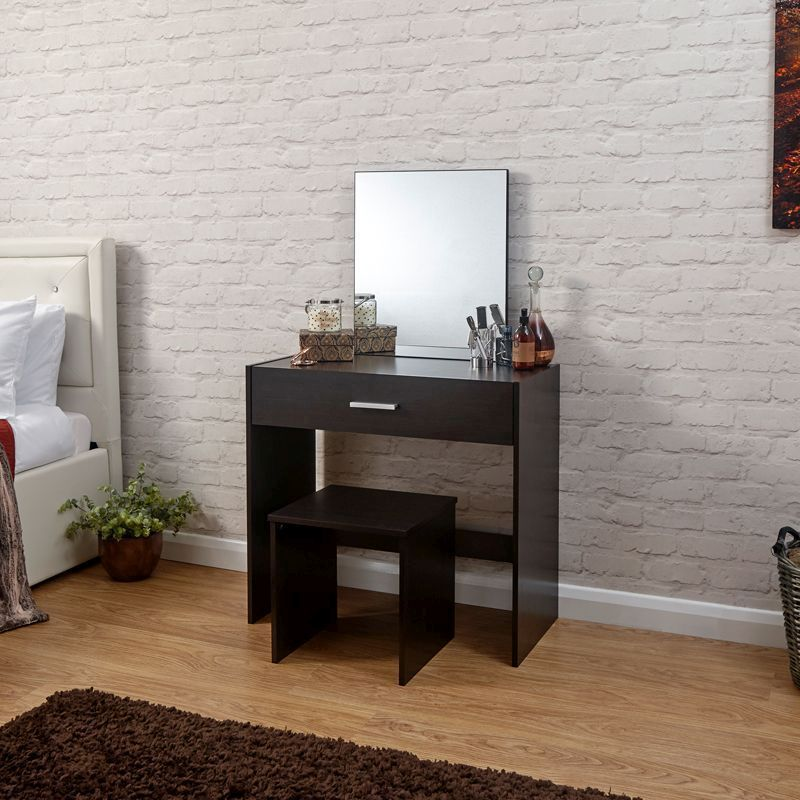 Julia Dressing Table Brown 1 Drawer With Stool Buy