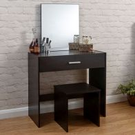 See more information about the Julia Dressing Table Brown 1 Drawer With Stool