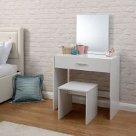 See more information about the Julia White 1 Drawer Mirror Dressing Table & Stool Set