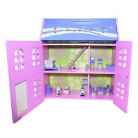 See more information about the Games Hub Painted Dolls House With Furniture