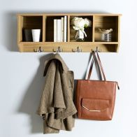 See more information about the Kempton Wall Rack Brown 4 Shelf