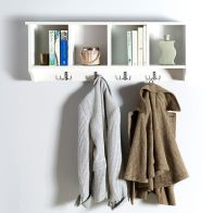 See more information about the Kempton Wall Rack White 4 Shelf