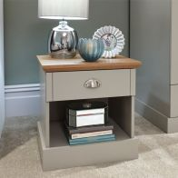 See more information about the Kendal Bedside Grey & Oak 1 Drawer
