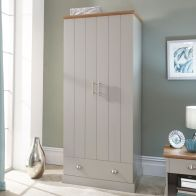 See more information about the Kendal Wardrobe Grey & Oak 2 Door 1 Drawer