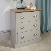 See more information about the Kendal Grey & Oak Chest Of 3 Drawers