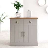 See more information about the Kendal Sideboard Grey & Oak 2 Door 2 Drawer