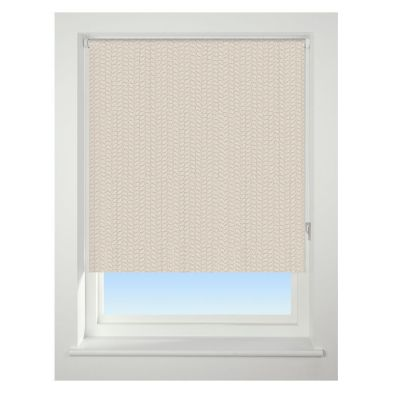 Universal 90cm Neutral Knitted Texture Blackout Roller Blind