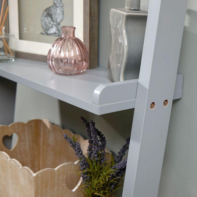 Cyprus Mdf Ladder Grey 5 Shelf Wall Rack Buy Online At