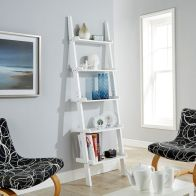 See more information about the Cyprus MDF Ladder White 6 Shelf Wall Rack