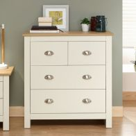 See more information about the Lancaster Cream & Oak Chest Of 4 Drawers