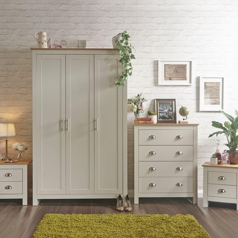 dfc0937c7d Lancaster 4 Piece Cream Bedroom Furniture Set - Buy Online at QD Stores