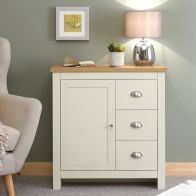 See more information about the Lancaster Sideboard Cream & Oak 1 Door 3 Drawer