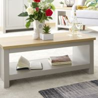 See more information about the Lancaster Coffee Table & Shelf - Grey