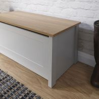 See more information about the Lancaster Grey Ottoman Storage Box