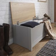 See more information about the Lancaster Storage Ottoman Grey & Oak