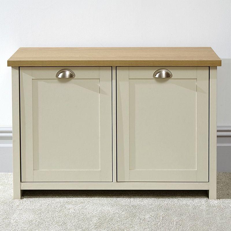 23471751bc Lancaster Cream 2 Door Shoe Storage Cabinet · Click here to enlarge Save