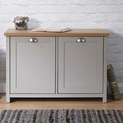 Lancaster Grey 2 Door Shoe Storage Cabinet