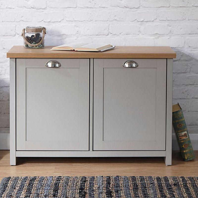 8267844741 Lancaster Grey 2 Door Shoe Storage Cabinet · Click here to enlarge Save