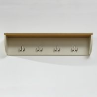 See more information about the Lancaster Wall Rack Cream & Oak 1 Shelf