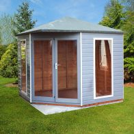 See more information about the Shire Larkspur Shiplap Garden Summerhouse 8' x 8'