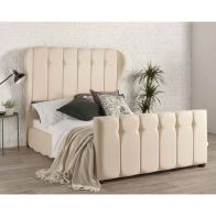 See more information about the Lauren Wing Back Cream 4ft 6in Double Bed Frame