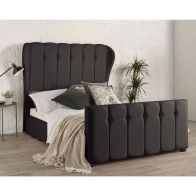 See more information about the Lauren Wing Back Black 4ft 6in Double Bed Frame
