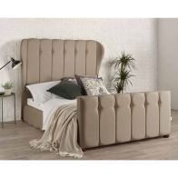 See more information about the Lauren Wing Back Brown 4ft 6in Double Bed Frame