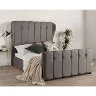 See more information about the Lauren Wing Back Grey 4ft 6in Double Bed Frame