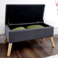 See more information about the Alexandra Storage Ottoman Charcoal