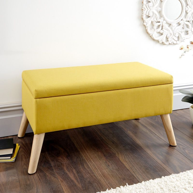 Enjoyable Alexandra Storage Ottoman Yellow Pdpeps Interior Chair Design Pdpepsorg