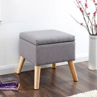 See more information about the Alexandra Storage Ottoman Grey Square