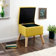 See more information about the Alexandra Storage Ottoman Yellow Square
