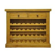 See more information about the Hunter Oak 2 Drawer Wine Cabinet