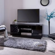 See more information about the Lima TV Unit Black 2 Door 2 Shelf
