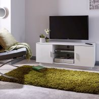 See more information about the Lima TV Unit White 2 Door 2 Shelf