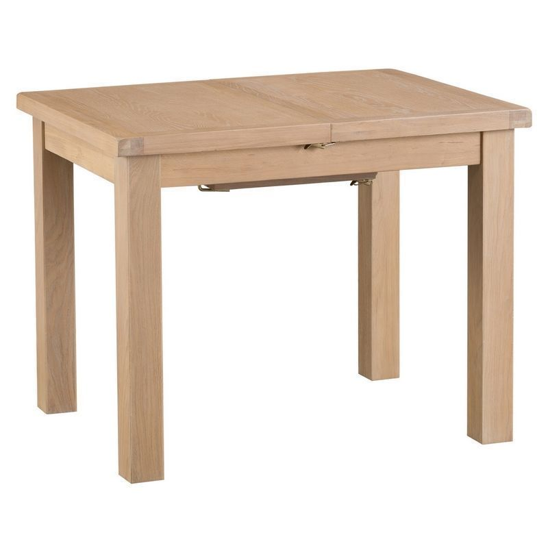 Oak Extending Dining Table 4 Seater Natural Lime-washed Oak