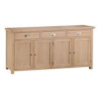 See more information about the Monica Sideboard Oak 4 Door 3 Drawer
